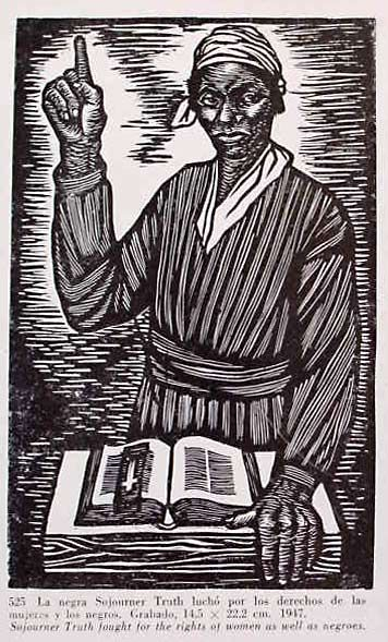 Elizabeth Catlett Sojourner Truth Fought For The Rights Of Women As