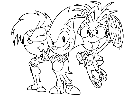 Sonic And Protectresses - High-quality Free Coloring Page From The  Category: Sonic. M… In 2020 Free Coloring Pages, Free Printable Coloring,  Free Printable Coloring Pages