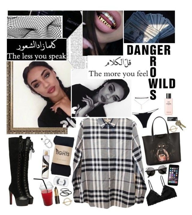 """""""☆❝ this chick about to go off , mad cause i'm so fresh, fresher than you  ❞ ☆"""" by u-rbanarcissists ❤ liked on Polyvore featuring Burberry, Christies, Givenchy, MAC Cosmetics, Monki, Wet Seal, Goody and Chanel"""