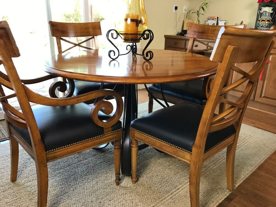 Maple Round Kitchen Table With 4 Chairs By Milling Road A Division Rh Pinterest Com