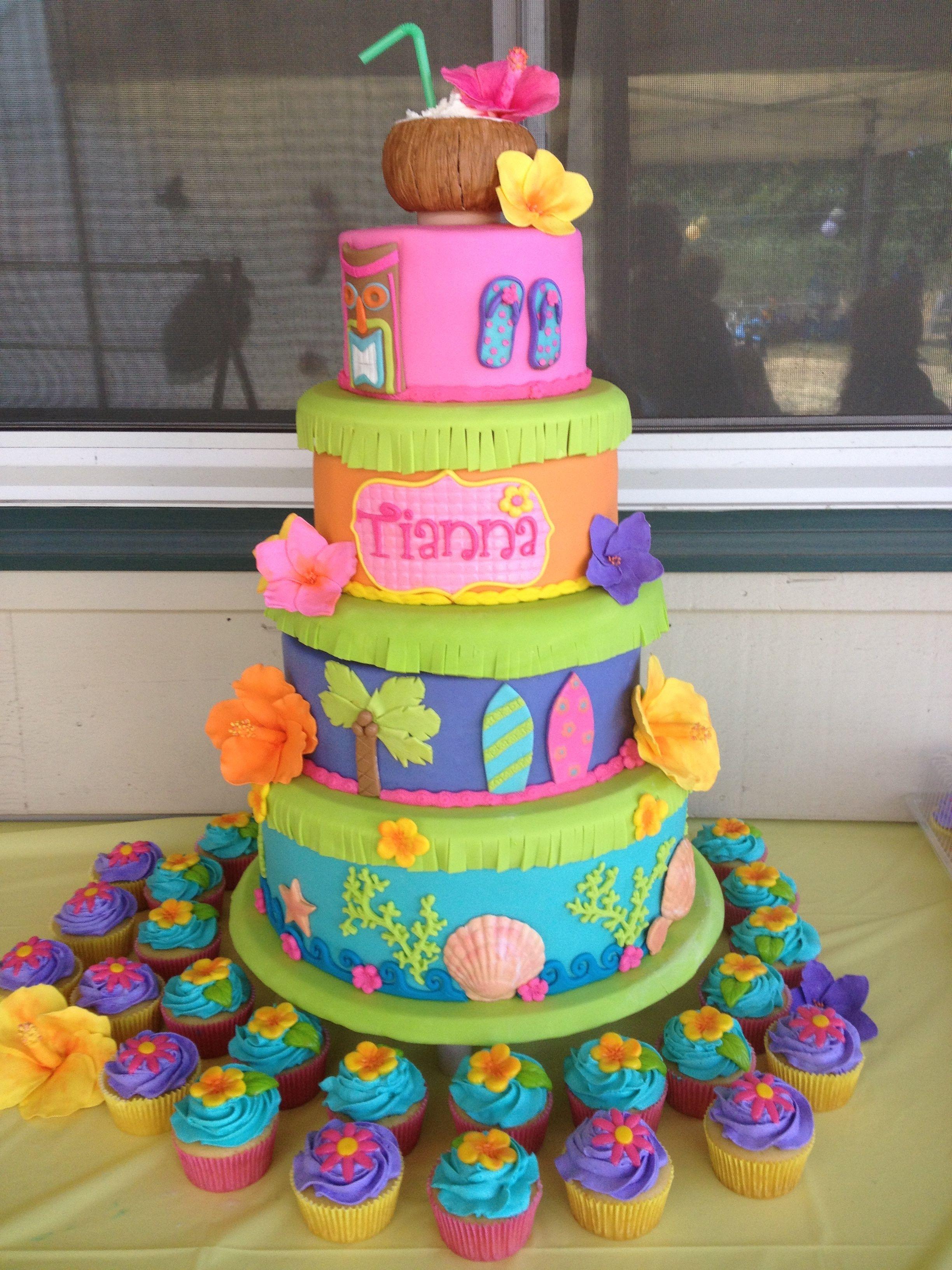 Image Luau Cakes Luau Party Desserts Luau Birthday Cakes