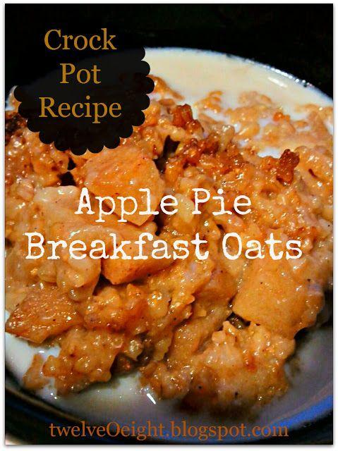 Crockpot Apple Pie Breakfast Oats