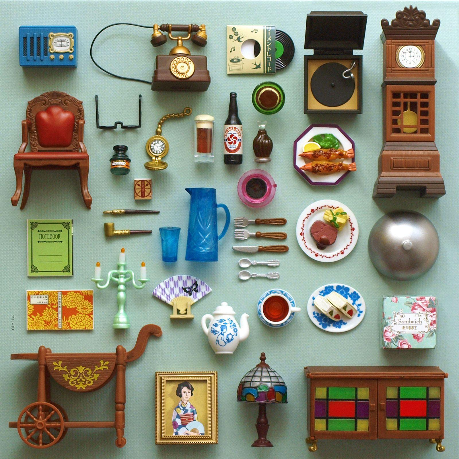 "Re Ment Kitchen Set: Re-Ment ""Taisho Roman House"""