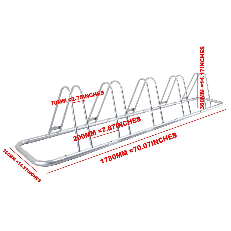 Amazon.com : 5 Bike Bicycle Floor Parking Rack Storage Stand : Indoor Bike Storage : Sports & Outdoors