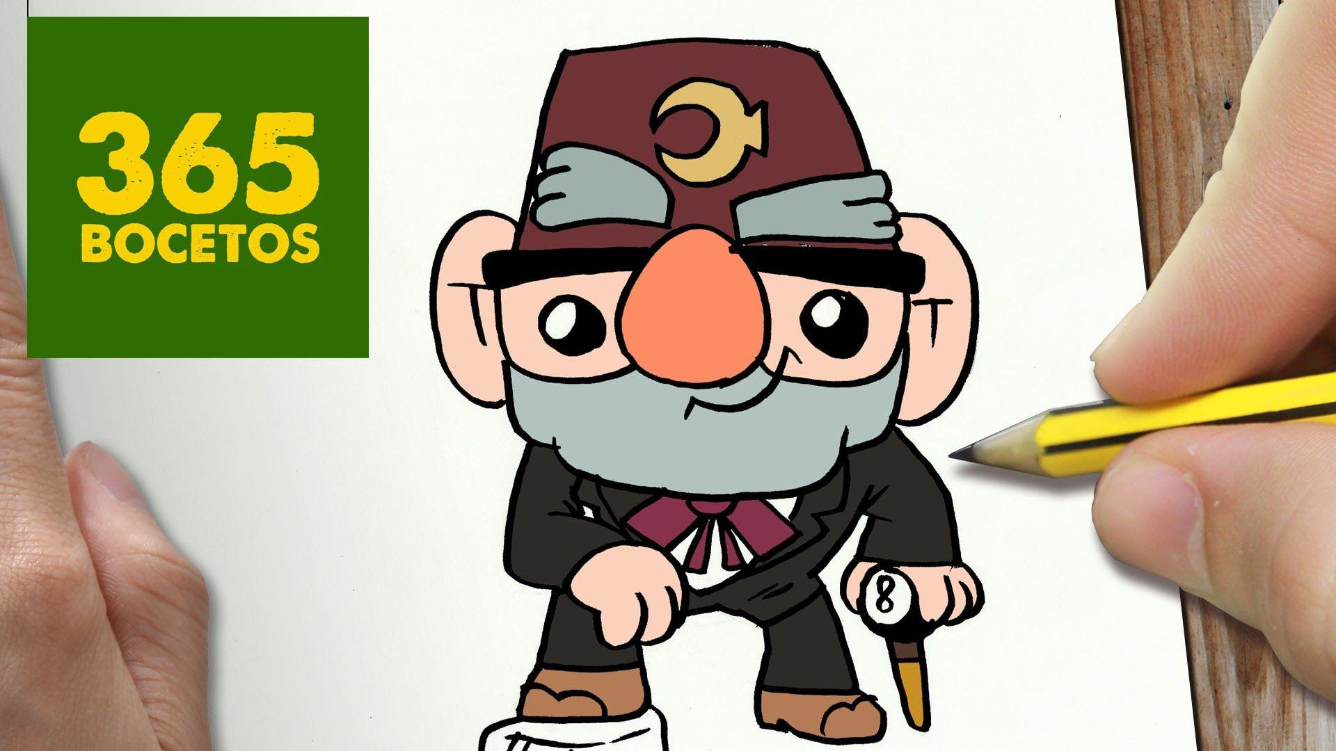 COMO DIBUJAR TIO STAN DE GRAVITY FALLS KAWAII PASO A PASO - Dibujos Kawa...
