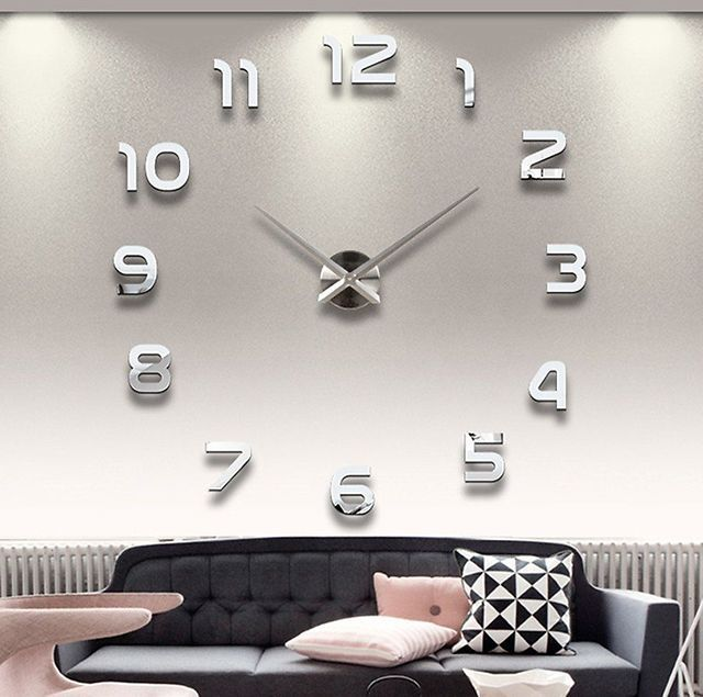DIY Stereo 3D Workable Clock Removable Wall Decal $9.99 (ebay.com)