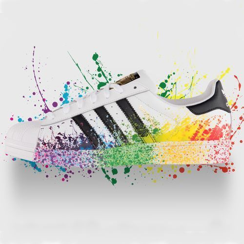 MEN'S ADIDAS RARE Pride Superstar Rainbow Sneakers Size 13