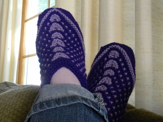 Knitting pattern for Seamless Slip Stitch slippers. These slippers ...