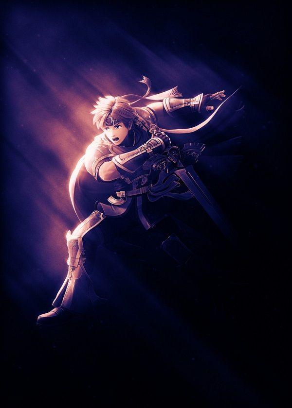 "Super Smash Bros. Ultimate Light Characters Roy #Displate artwork by artist ""Danaydal"". Part of… | Displate thumbnail"