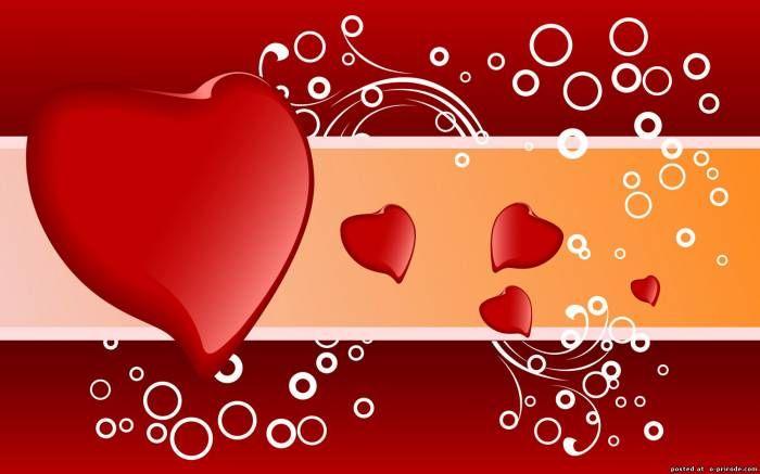 Открытки для контакта с сердечками