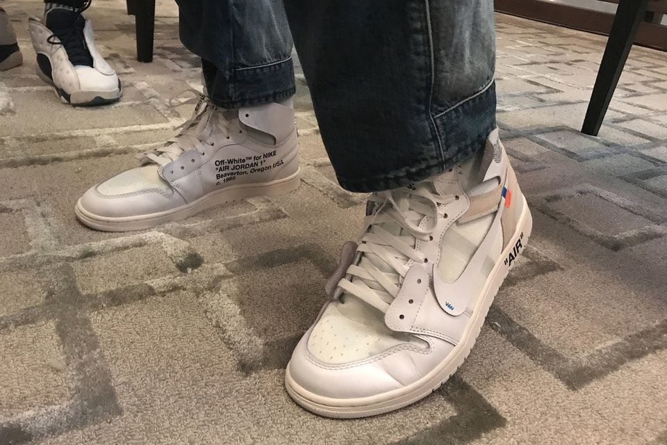 sale uk united states most popular Unreleased Off-White™ x Air Jordan 1 White Colorway Spotted ...