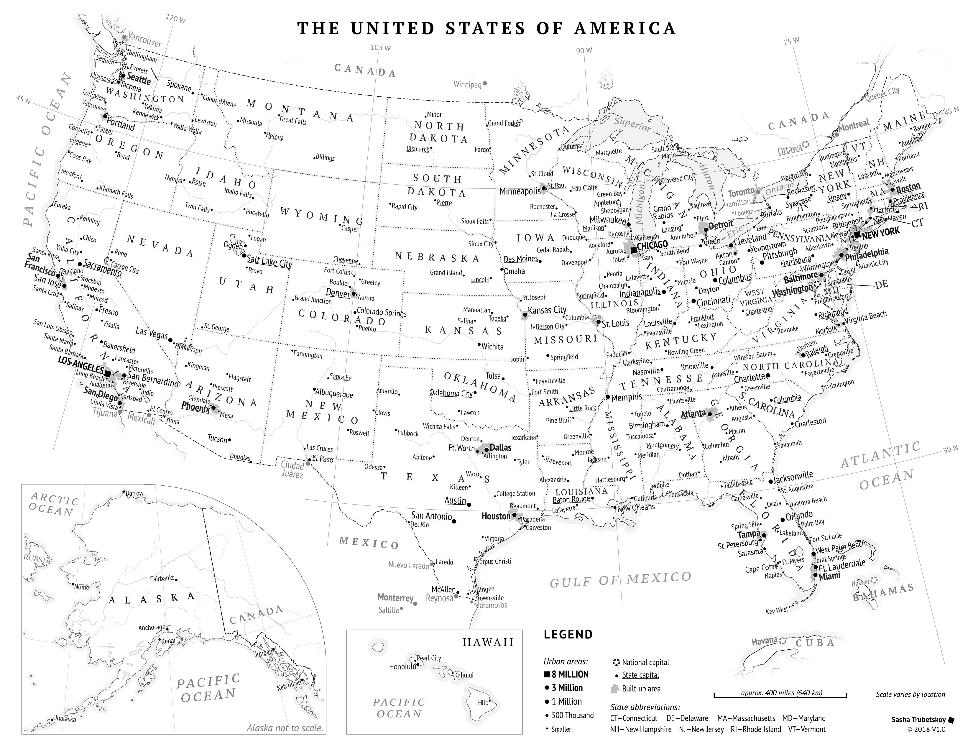 Printable United States Map Sasha Trubetskoy