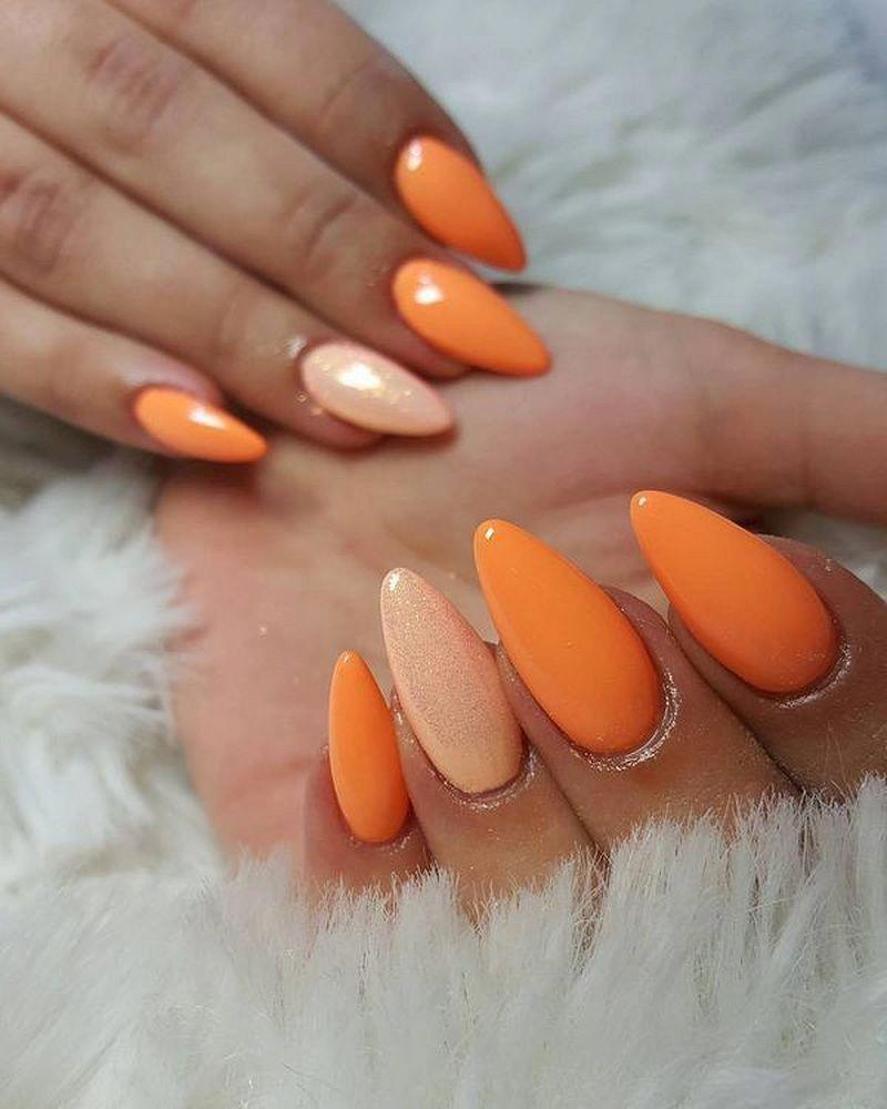 Photo of 27 Beautiful Orange Nail Art Designs You Should Try – Fashion Star. | orange and…