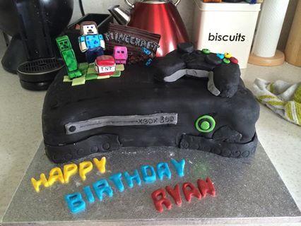 Xbox Minecraft Cake My Cakes 0 Pinterest Cake Minecraft