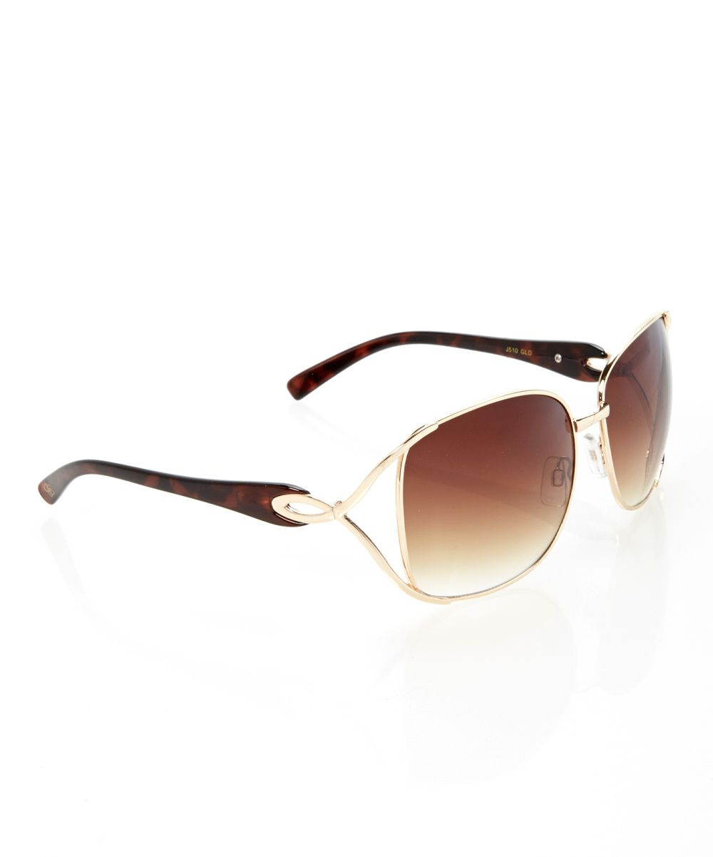 bb60b9254052 Black Gold Twist Butterfly Sunglasses. Black Gold Twist Butterfly Sunglasses  Jessica Simpson Collection