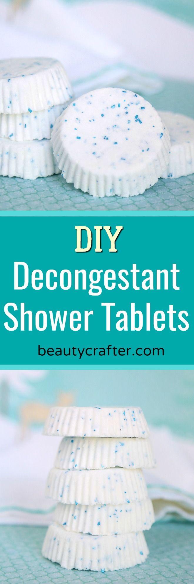 Diy Decongestant Shower Tablets Recipe Homemade Shower