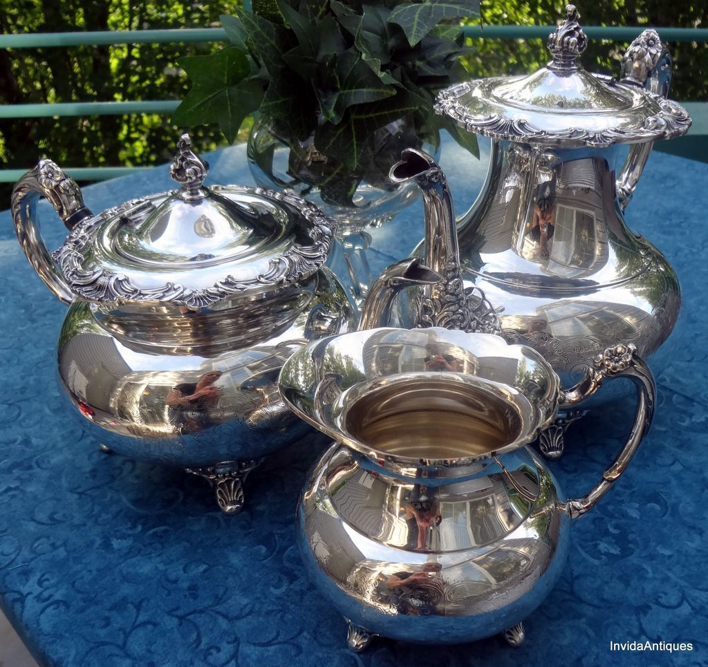 3 Piece Community Ascot Sheffield Design Reproduction Tea