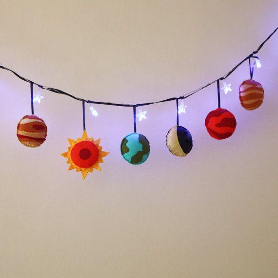 Solar System Fairy Lights Planets Boys Room Decor Girls Room Decor Space Theme Girls Birthday Gift Fairy Lights Bedroom Fairy Lights Diy Projects For Men