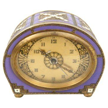 Check out this item at One Kings Lane! Art Deco Enamel Clock