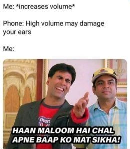 High Volume May Damage Your Ears
