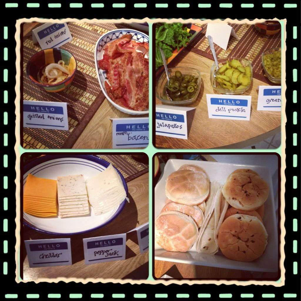Gourmet Burger Bar! Invite friends, grill burgers, have ...