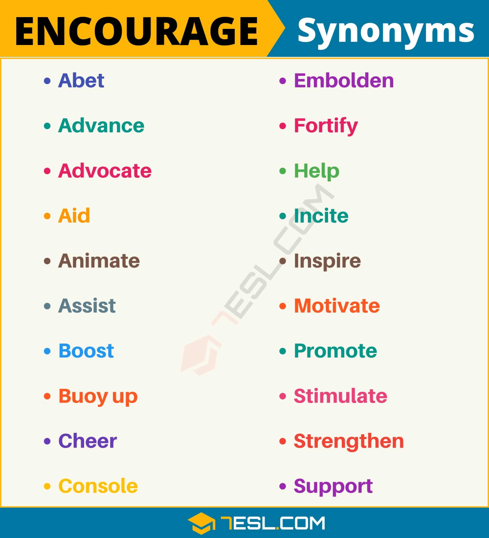Other Words For Encourage
