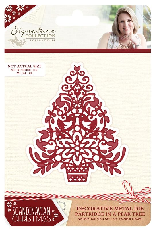Sara Signature Collection Scandinavian Christmas Die - Partridge in a Pear Tree