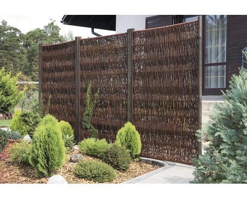 Sichtschutzelement geflochtene Weide 120 x 180 cm, geölt