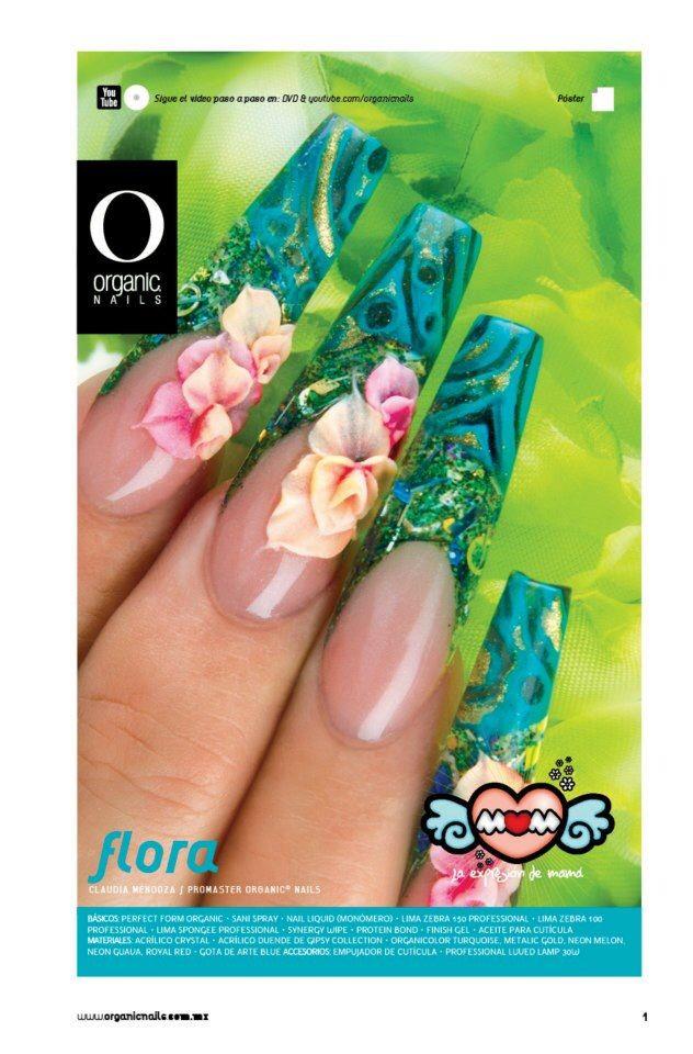 Claudia Mendoza/ ProMaster Organic® Nails | Xmas nails | Pinterest ...