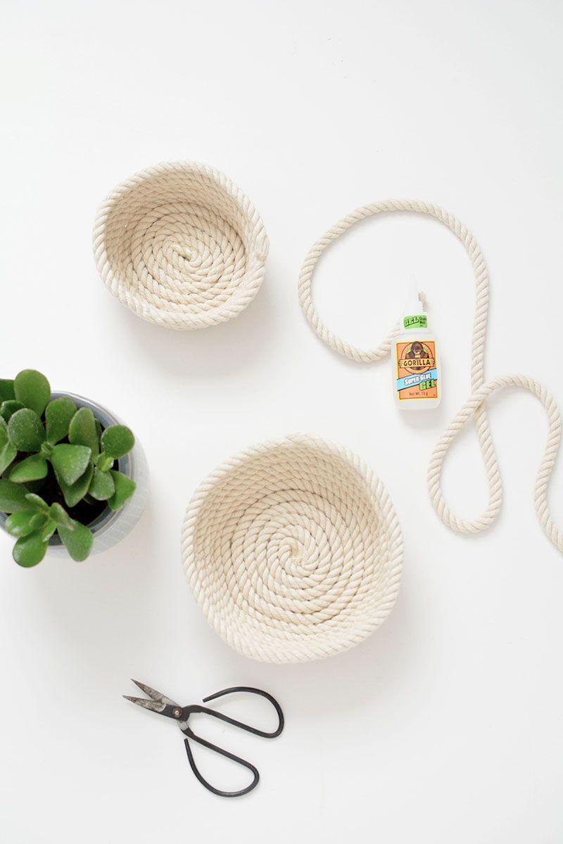 Do It Yourself Home Design: DIY Rope Trinket Bowls