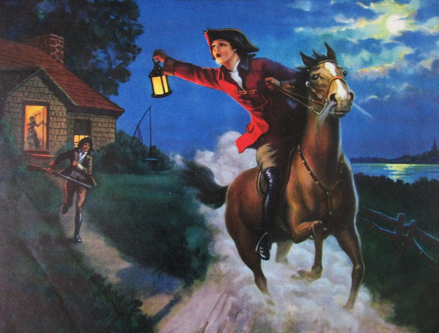 This Picture Represents Paul Revere A Patriot Messenger Who Did Several Things During The Revolution For Exampl Paul Revere American Military History History
