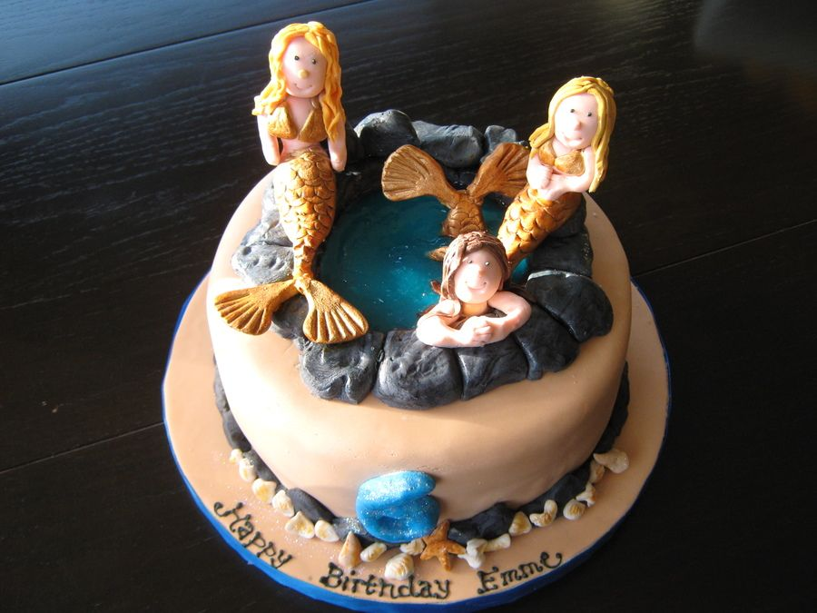 H2O Just Add Water Cake Mermaid birthday cakes, Mermaid