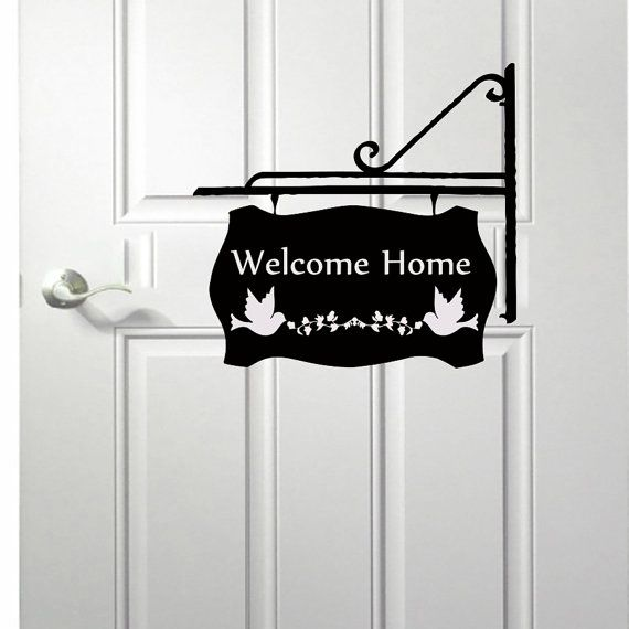 wall decals welcome home quote decal vinyl sticker bird on wall stickers for hall id=51330