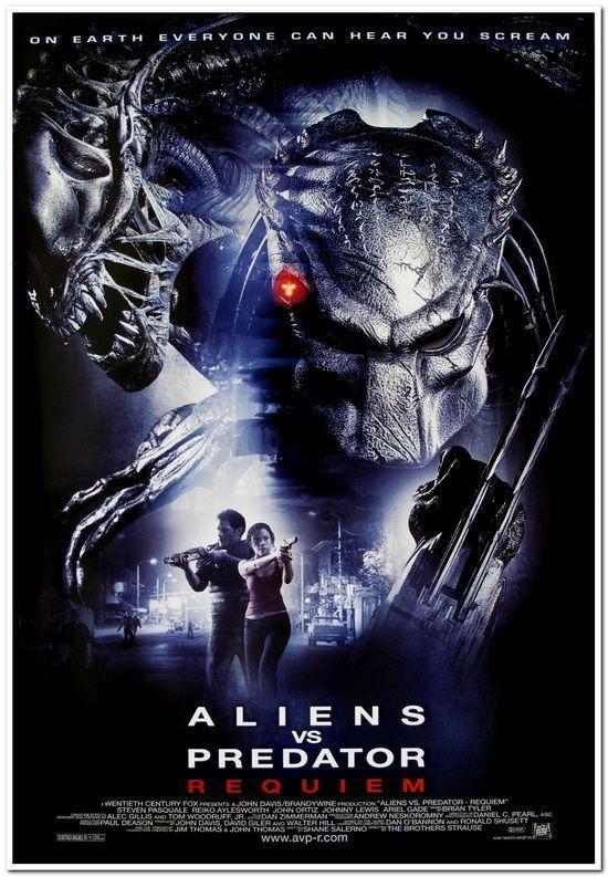 ALIENS VS PREDATOR: REQUIEM -2007- original 27x40 movie poster ...