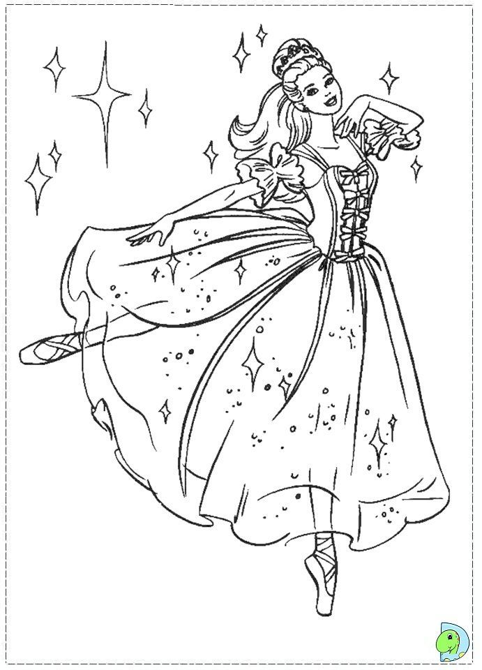 Barbie Nutcracker Coloring Page Dinokids Org Kids Stuff