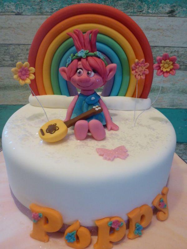 Princess Poppy Trollrainbowhandmadepersonalisedbirthdaycake