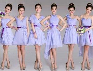 502c6d7336 Vestido para damas de honor lila 2015