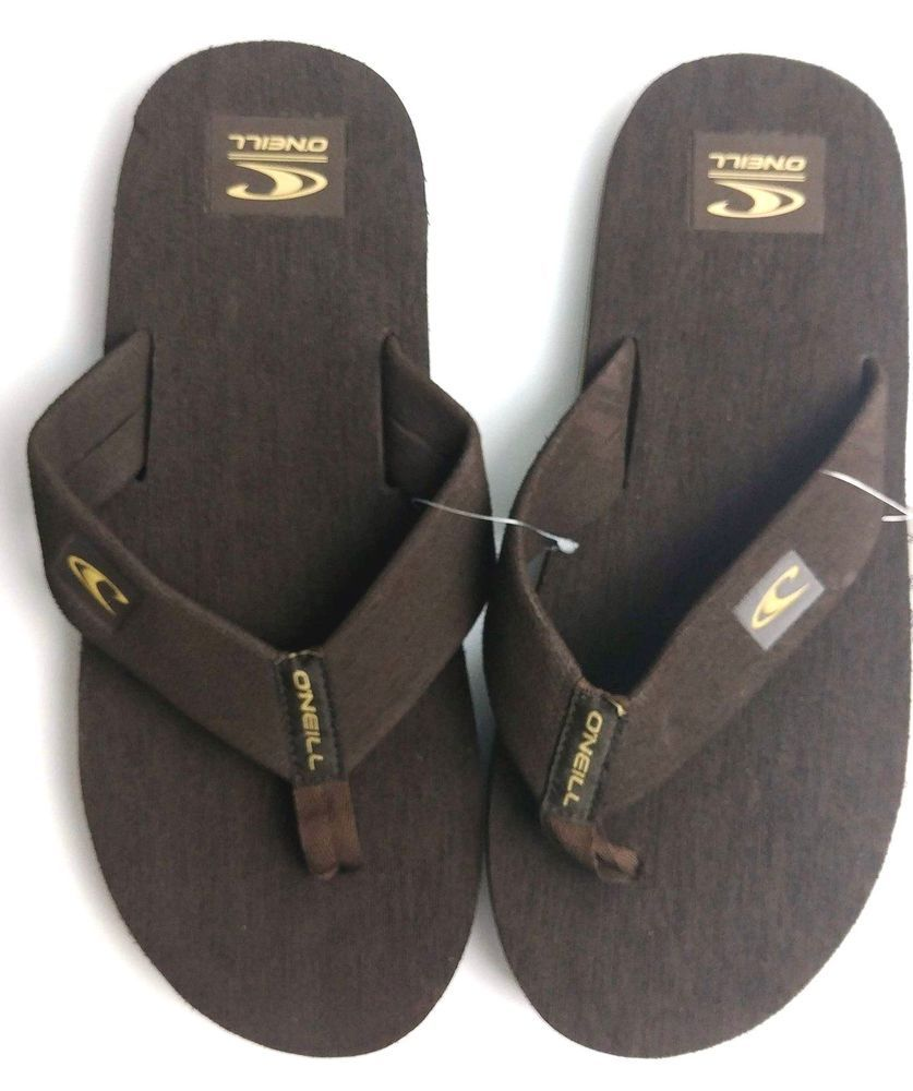 082c875df O Neill Mens Phluff Daddy Thong Sandals Flip Flops Brown Size 10  ONeill   FlipFlops