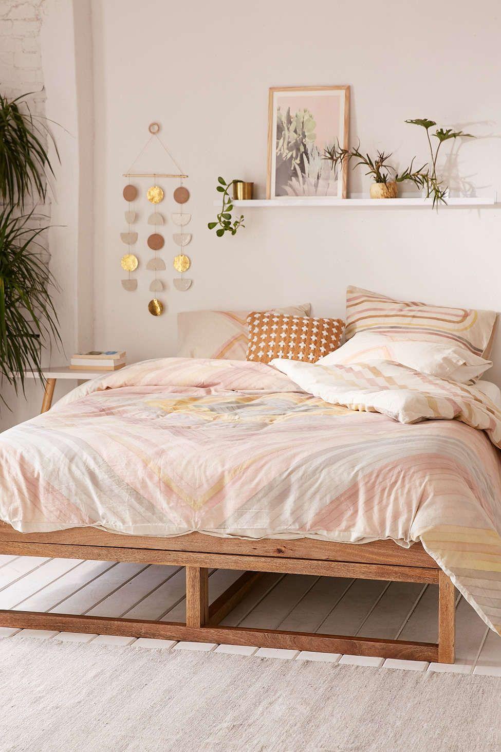 Hodad Reversible Watercolor Linen Blend Duvet Cover Dormitorio  # Muebles Cover Decoracion