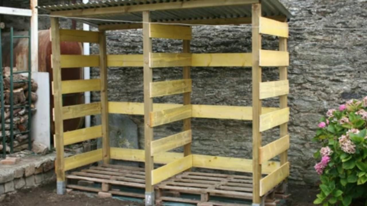 2013 09 construction d 39 un abri bois de chauffage vid o dailymotion - Ranger du bois de chauffage ...