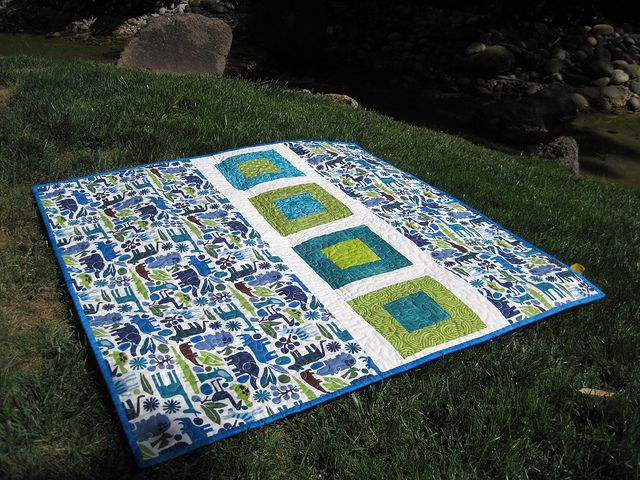 """Oh Fransson's More Simple Modern Baby Quilts, the """"Frames"""" pattern."""
