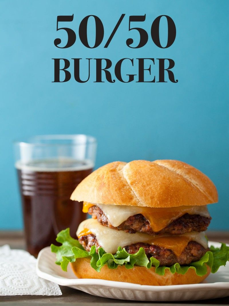 50 50 Burger Burger Recipe Spoon Fork Bacon Recipe Bacon Burger Beef Recipes Recipes