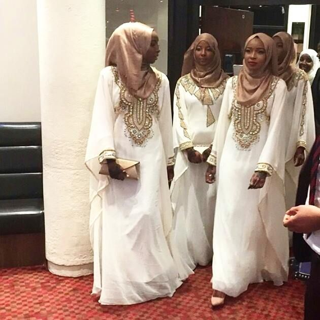 Nigerian wedding muslim bridesmaids hijab | muslim bridesmaid ...