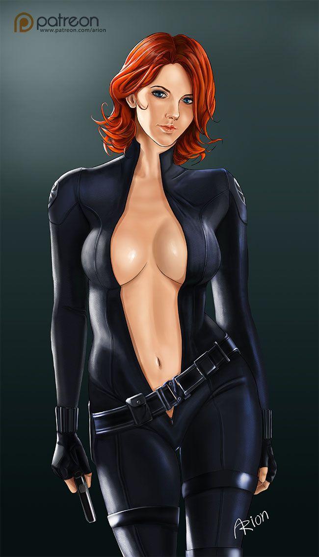black widow naked