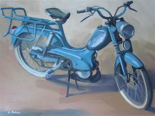 """Daily Paintworks - """"la mobe bleue"""" - Original Fine Art for Sale - © gilles…"""