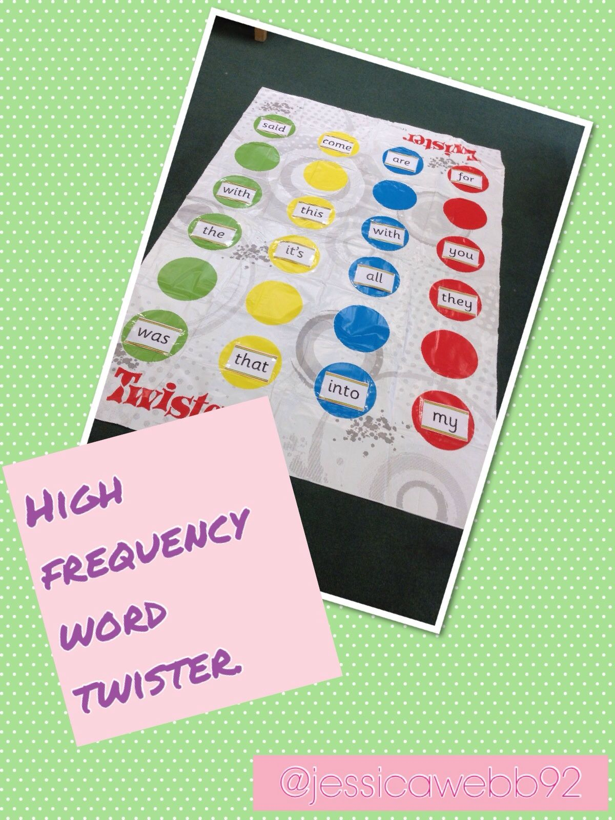 High Frequency Word Twister Eyfs