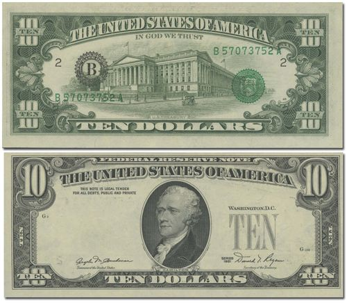 American Dollar Bill Back