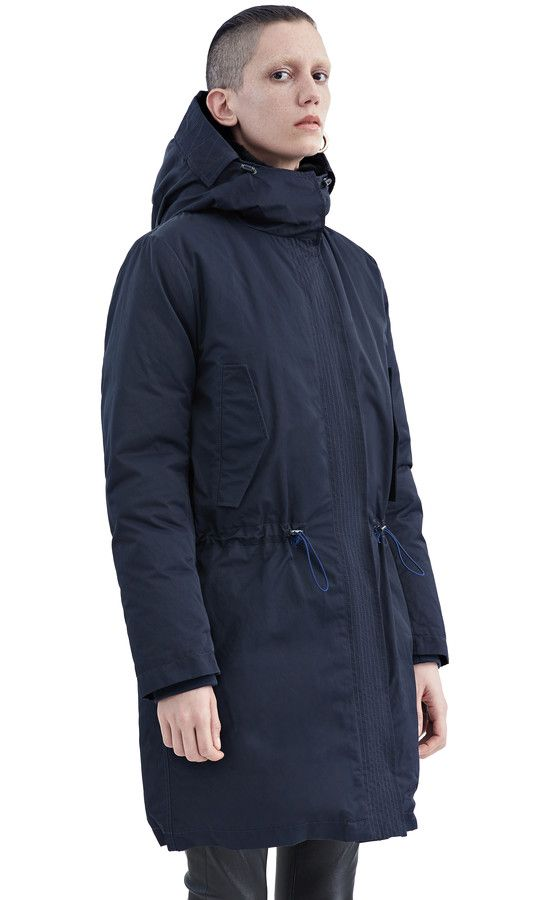Acne New Powder Parka in Navy   fashion   Pinterest   Mode a01f1c4dbb1