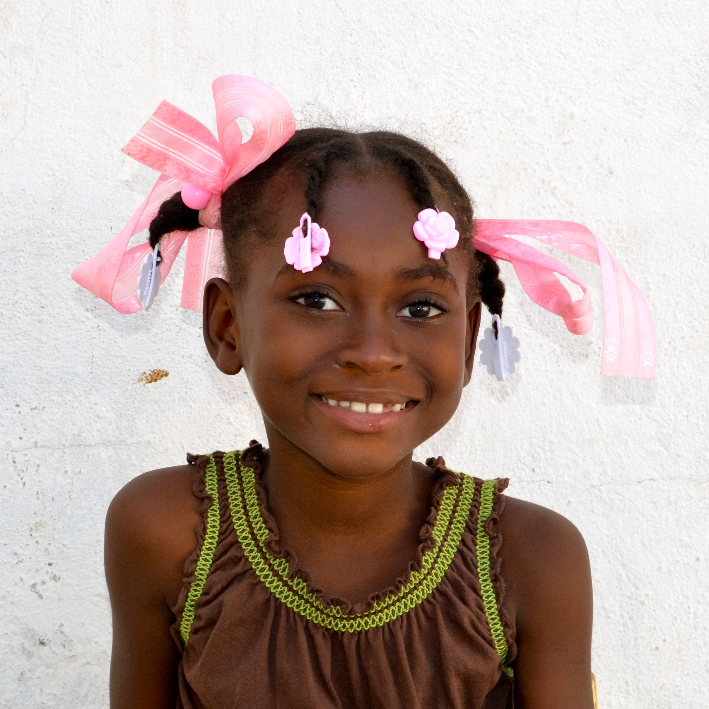 Rosa from Port au Prince is all girl. She loves dolls