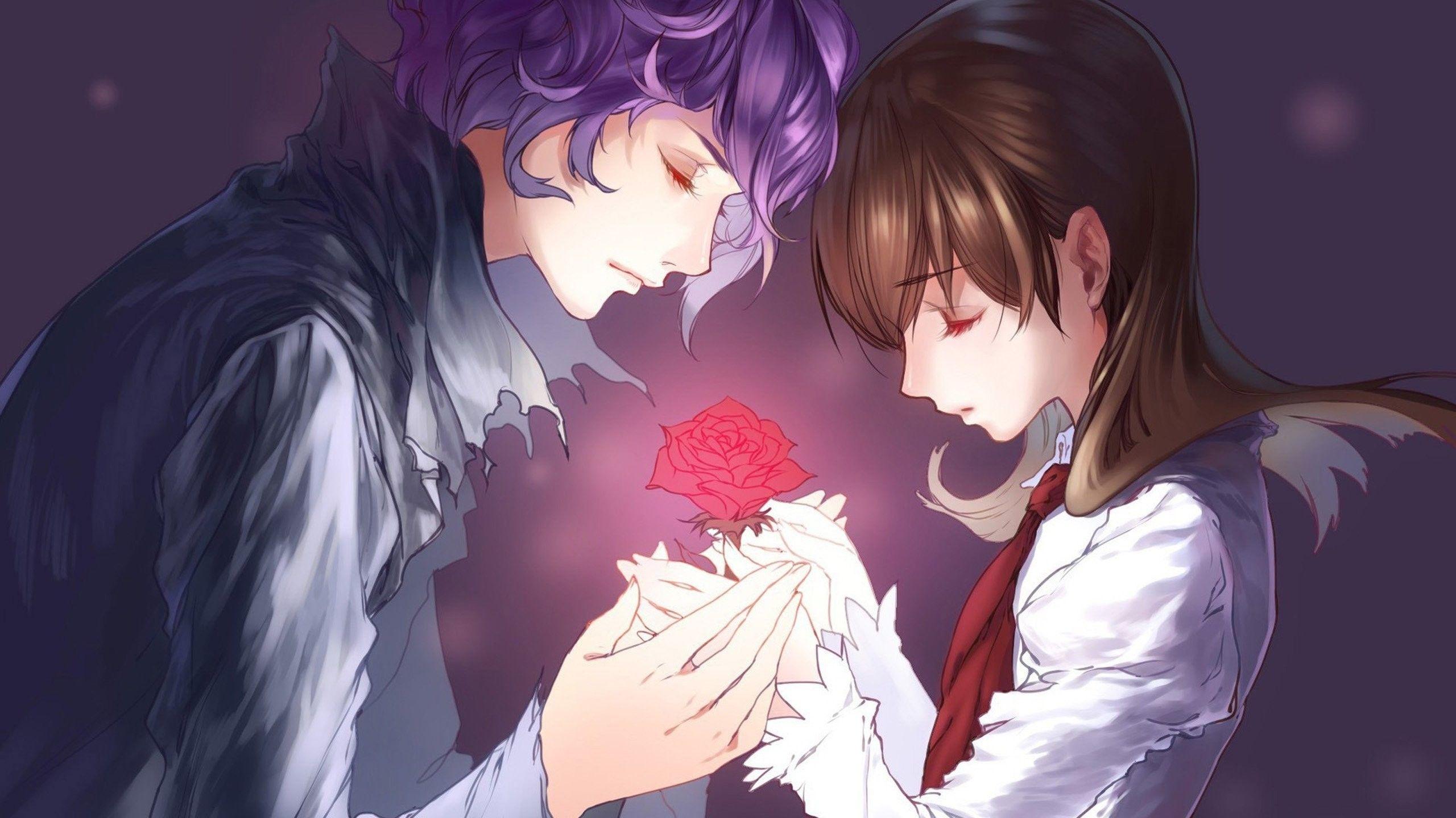 Cute Anime Couple Wallpaper 1080p Romantis